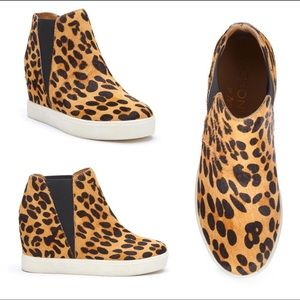 "COCONUTS BY MATISSE ""LURE LEOPARD 🐆 WEDGE SNEAKER"